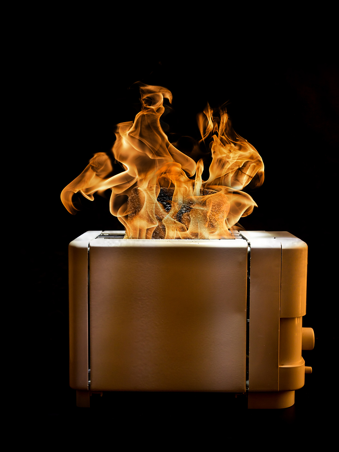 Toaster On Fire ~ Remain calm when your toaster or anything else is on fire